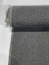 """Vintage Heather Gray Canvas Tweed Fabric 55"""" W Seat Upholstery Church Pew Auto"""