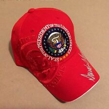 Donald Trump Embroidered Baseball Cap Hat Seal Inauguration in RED