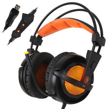 SADES A6 USB Surround Sound Stereo Over-ear Gaming Headset LED Mic Headphone
