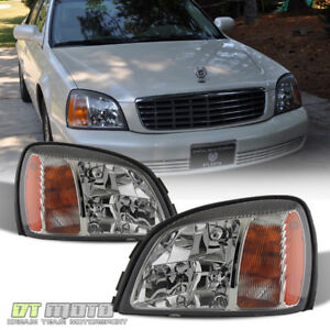 2000-2005 Cadillac Deville Headlights Headlamps Replacement 00-05 Set Left+Right
