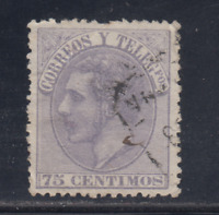 ESPAÑA (1882) USADO SPAIN - EDIFIL 212 (75 cts) ALFONSO XII - LOTE 2