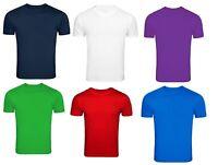 Multi Pack Boys Girls Kids T-Shirts Plain Cotton Round Neck Shirt School Uniform