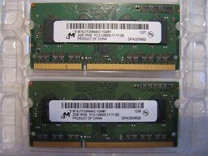 2 X 2GB Micron MT8JTF25664HZ-1G6M1 1RX8 PC3-12800S-11-11-B2