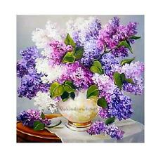 DIY 5D Diamond Painting Full Drill Lavender Embroidery Cross Stitch Home Decor