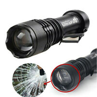 Ultrafire 50000LM Q5 LED Flashlight Zoomable Outdoor Mini Torch Lamp AA 14500 .