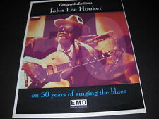 JOHN LEE HOOKER 50 Years Of Singing The Blues 1998 PROMO POSTER AD mint cond
