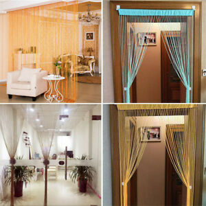Glitter 3x6ft String Door Curtain Beads Room Dividers Beaded Fringe Panel Drape