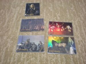 Lord Of The Rings The Two Towers 6 Assorted Prismatic Foil Cards