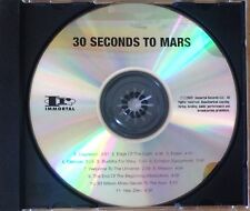 RARE 30 Seconds to Mars PROMO ADVANCE ACETATE TEST PRESSING CD ALBUM Immortal !!