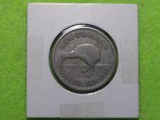NEW ZEALAND - 1933 ONE FLORIN - PREDECIMAL COIN. Silver 50%.