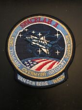 STS 51B SPACE SHUTTLE CHALLENGER MISSION PATCH / ATTACHED LOWER NAME FLAP
