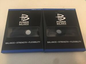 2x Power Balance Bracelet Wrist Size Small Black With Black Writing Small 17.5cm
