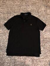 Men's Ralph Lauren Black Polo Short-Sleeve Classic Fit Dress/Casual Shirt Large