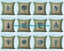 US SELLER- 10 cushion covers vintage octopus coral shells cotton throw pillow