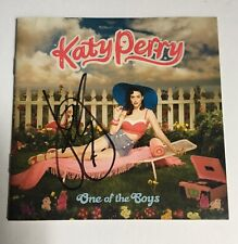 Katy Perry Signed Autographed One of the Boys CD