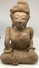 Majapahit Terra Cotta Female Figure Sculpture SE Asia Java Meditation Buddha