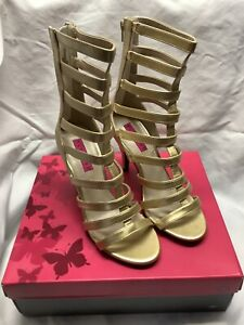 """Pleaser Pink Label Dream-438 4"""" High Heel Ankle Strap Women's Shoe Boot Size 10M"""
