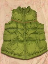 Next Lime Gilet/ Bodywarmer With A Fleece Lining, Age 7-8 Years - Super!