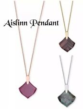 Kendra Scott Aislinn Pendant Necklace,Maroon Jade/Dusted Glass/African Turquoise