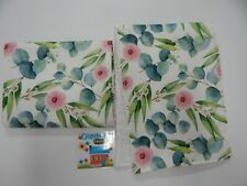 Burp Cloth Gumnut Blossoms 2 Pack Toweling Backed GREAT GIFT IDEA!!