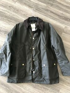 New Barbour Ashby Jacket Wax Cotton Mens XL Olive