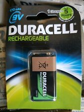 10 x 9V Duracell Rechargable Battery 170mAh