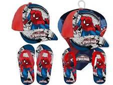 Spiderman 2er Set Kappe Sandalen Cap Mütze Schirmmütze Strandschuhe Badelatschen