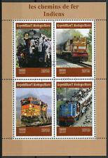 Madagascar 2019 CTO Indian Railways Railroads 4v M/S Trains Rail Stamps
