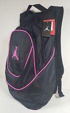 NIKE AIR JORDAN Jumpman Logo Backpack School Gym Bag Black/Pink Foil 9A1118-082