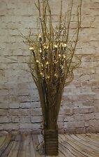 Twig light display & wood vase & prelit 5 twigs(30 lights) weddings,lounge GIFT