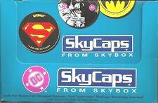 DC COMICS 1993 SKYBOX SKYCAPS  - 36 UNOPENED PACKS OF POGS IN RETAIL DISPLAY BOX