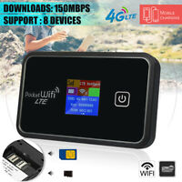 Portable 4G LTE LCD Wireless Wifi Mobile Router Modem 150Mbps Hotspot Power Bank