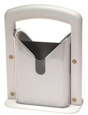 White Plastic and Stainless Steel Bagel Slicer Guillotine High End Koozam New