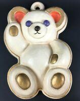 Original Thun Bär als Wandbehang aus Keramik Wand Bild Italy Pottery 25cm 9CT3