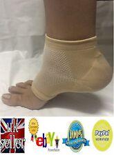 Heel Pain Relief Mosturising Padded Gel Socks Cracked Heels Comfort (One Pair)