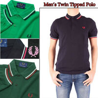 Striped Men's Twin Tipped Embroidery Logo Short Sleeves Polo Shirt Basic Top Tee