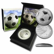 1 - 1 oz .999 Silver Round - Curved Domed 3D Round Soccer Ball w/Capsule and Box