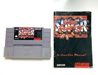 Super Street Fighter II 2 SNES Super Nintendo Game & Instruction Manual