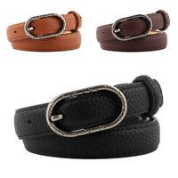 Cintura da donna Lady Girl in pelle con fibbia in metallo Cinturino accessorio C