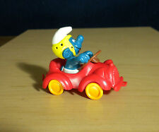 Smurfs Red Car Super Smurf Vintage Classic Figure Toy PVC Peyo Figurine 40210