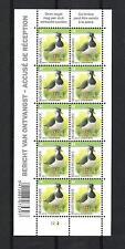 BELGIQUE - BUZIN - OISEAUX / BIRDS (VANNEAU HUPPE)  - BLOC 10V**MNH