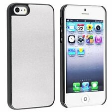 Snap-in Case compatible with Apple iPhone 5 / 5S, Silver Frost Aluminum Rear