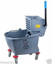 36 Quart Commercial Wet Mop Bucket & Wringer Combo Gray Janitorial