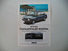 advertising Pubblicità 1982 FIAT 127 SUPER  III SERIE