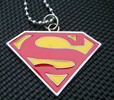 UNISEX GIFT IDEA SUPERMAN LOGO METAL SHIELD DOG TAG NECKLACE MARVEL COMIC UKSELL
