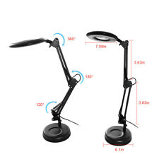 Magnifier Adjustable Task Lamp  Desktop  Clamp-On Mounting Options Two color 12w
