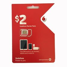 NEW VODAFONE AUSTRALIAN PREPAID MOBILE 3G 4G STANDARD MICRO NANO SIM CARD PACK