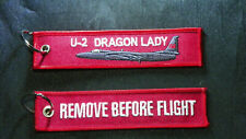 Cloth Tag with U-2 Dragon Lady on front, RBF on reverse