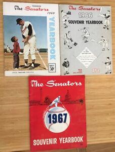 1965 YEARBOOK Washington Senators + 2 BONUSES from 1966 + 1967 BASEBALL Poor