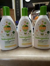 Babyganics Baby Shampoo + Body Wash , Fragrance Free, 16oz, 3 Pack